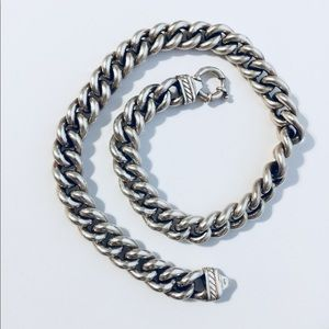 "Jewelry - Italian Sterling Silver 925 chain 17.5"" over 100g"